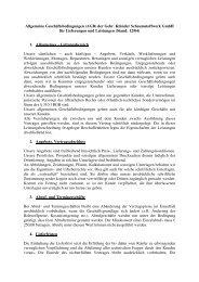 Allgemeine Geschäftsbedingungen (AGB) der Gebr. Klünder ...