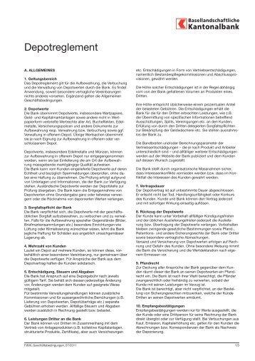 Depotreglement - BLKB