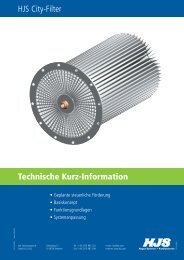 Technische Kurz-Information HJS City-Filter