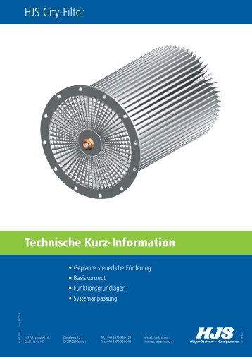 Technische Kurz-Information HJS City-Filter