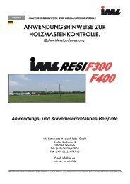 anwendungshinweise zur holzmastenkontrolle. - IML-Instrumenta ...