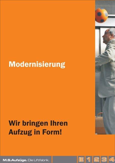 Broschüre Modernisierung - MS Aufzüge
