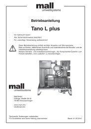 Betriebsanleitung Tano T plus - Mall GmbH
