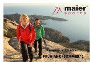 TRAININGSUNTERLAGEN - Maier Sports