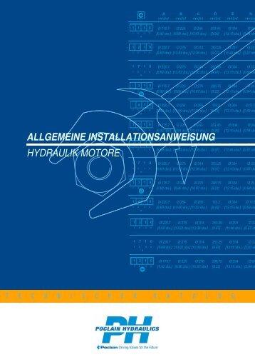 allgemeine installationsanweisung hydraulik motore - Poclain ...