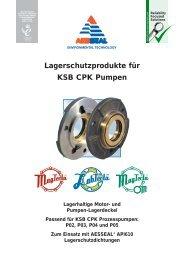 Lagerschutzprodukte für KSB CPK Pumpen