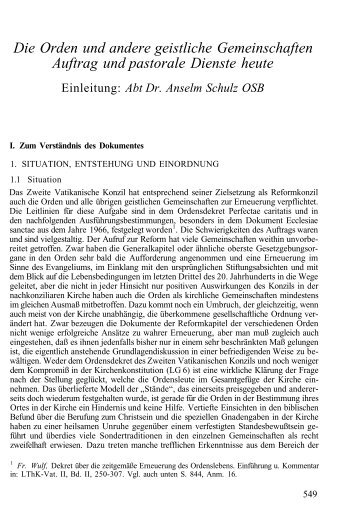 Orden - Deutsche Bischofskonferenz