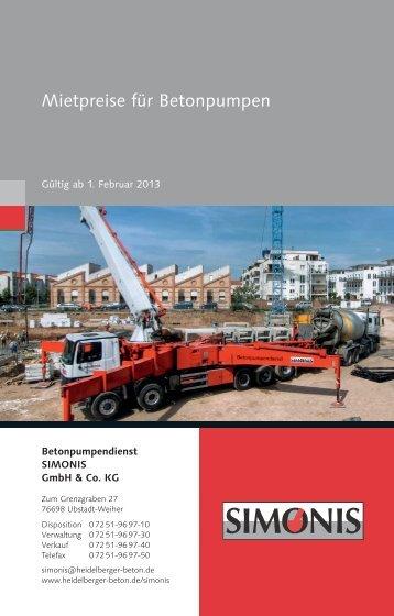 Download Preisliste Simonis - TBG Kurpfalz GmbH & Co KG