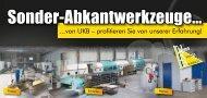 Sonder-Abkantwerkzeuge von UKB - Uwe Krumm Burbach GmbH