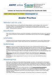 AWMF online - S1-Leitlinie Dermatologie: Analer Pruritus