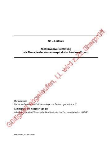 Akute respiratorische Insuffizienz - AWMF
