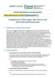 AWMF online - Leitlinien Kindliche Stoffwechselkrankheiten