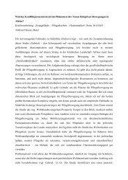 Welches Konfliktpotenzial beinhaltet das Phänomen ... - Katholisch.de