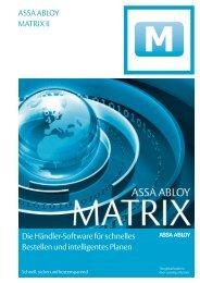 Broschüre Bestellsoftware ASSA ABLOY Matrix II - WS8251 - Ikon