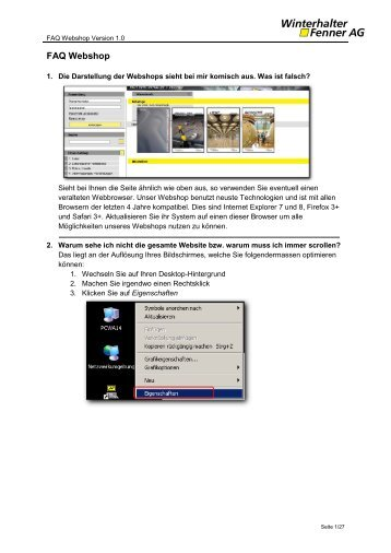 FAQ Webshop - Winterhalter + Fenner AG