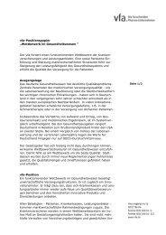 """vfa-Positionspapier """"Wettbewerb im Gesundheitswesen """" Der vfa ..."""