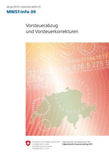 MWST-Info 09 Vorsteuerabzug und Vorsteuerkorrekturen