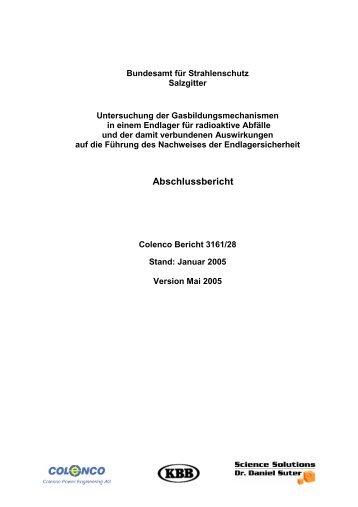 Gasentwicklung - Abschlussbericht - Bundesamt für Strahlenschutz