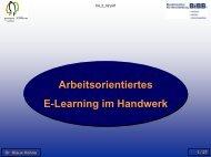 Arbeitsorientiertes E-Learning im Handwerk - BiBB