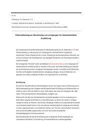 Kriterienkatalog zur Beurteilung von Lehrgängen für ... - BiBB