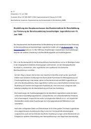 Empfehlung zur Förderung der Berufsausbildung ... - BiBB