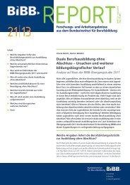 Duale Berufsausbildung ohne Abschluss – Ursachen und ... - BiBB