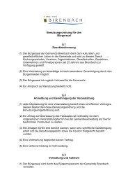Benutzungsordnung - Birenbach