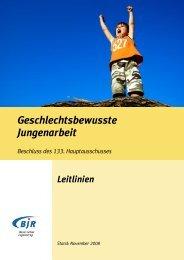Geschlechtsbewusste Jungenarbeit - Bayerischer Jugendring