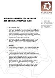 allgemeine einkaufsbedingungen der böhner altmetalle gmbh