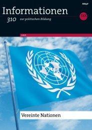 Informationen zur politischen Bildung - 310 - Vereinte Nationen