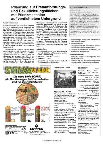 AFZ - der Wald, Nr. 18-19, 04.September 2000