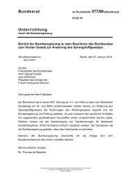 Bericht der Bundesregierung zu dem Beschluss des ... - BSSB