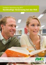 Information Kollektiv-Versicherte - Pax Schweizerische ...