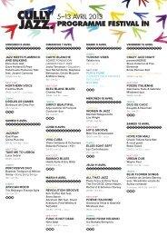 PROGRAMME FESTIVAL IN - Cully Jazz Festival
