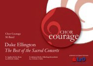 The Best of the Sacred Concerts Duke Ellington - Chor-Courage ...