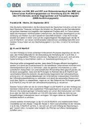 Kommentar von DAI, BDI und VDT zum Diskussionsentwurf des ...