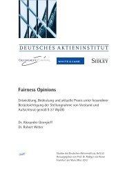 Fairness Opinions DEUTSCHES AKTIENINSTITUT