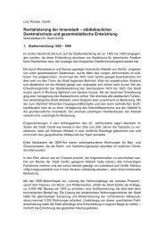 Revitalisierung der Innenstadt – städtebaulicher Denkmalschutz und ...