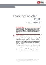 Konzerngrundsätze Ethik - DB Dialog