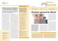 ProDente Beilage Ästhetik - Dentes Zahntechnik GmbH