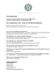 Der sanktionierte Arzt – Zum (Un-)Wohl des Patienten? - Deutsche ...