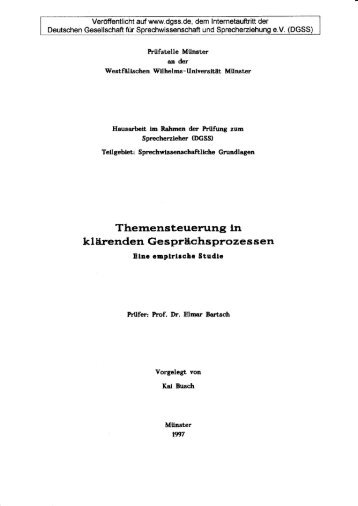 DGSS-Hausarbeit - Deutsche Gesellschaft für Sprechwissenschaft ...