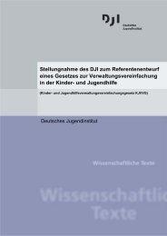 Stellungnahme des DJI zum Referentenentwurf eines Gesetzes zur ...
