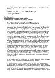 Kurzfassung der Redebeiträge - Deutsches Jugendinstitut e.V.