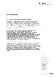BYK Kometra eröffnet Produktionsneubau in Schkopau