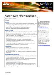 Aon Hewitt HR Newsflas HR Newsflash HR Newsflash HR Newsflash