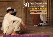 30 Tage Gebet für die islamische Welt 2013 - Deutsche ...