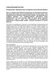 Radiopharmaka ermöglichen personalisierte Medizin - European ...