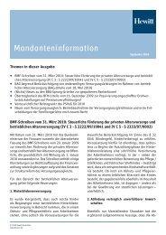 Mandanteninformation - Aon