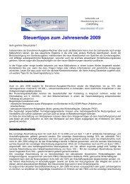 Steuertipps für 2012